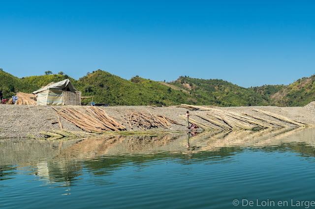 Rivière Lemro-Région Mrauk-U-Birmanie-Myanmar