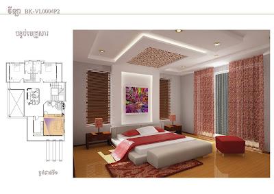4 Bedroom Home Plan 13.8x19m bedroom