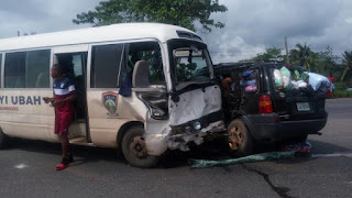 Breaking: FC Ifeanyi Ubah bus in road accident, two players unconscious, others injured