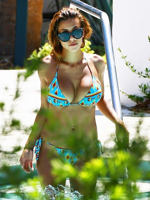 Devin Brugman in bikini candids at a pool in Miami