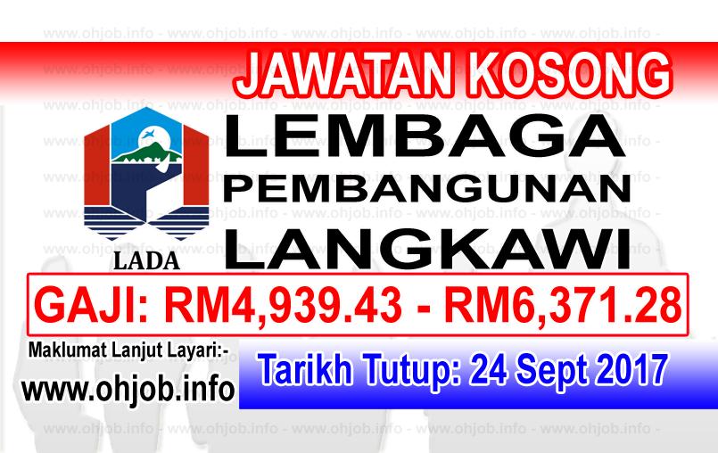 Jawatan Kerja Kosong LADA - Lembaga Pembangunan Langkawi logo www.ohjob.info september 2017