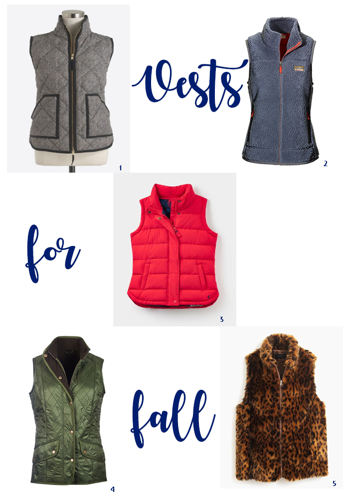 fall vests