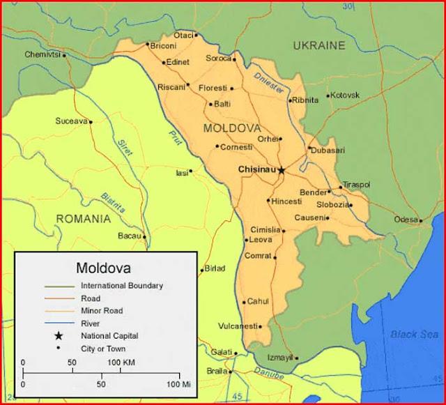 Gambar Peta Moldova