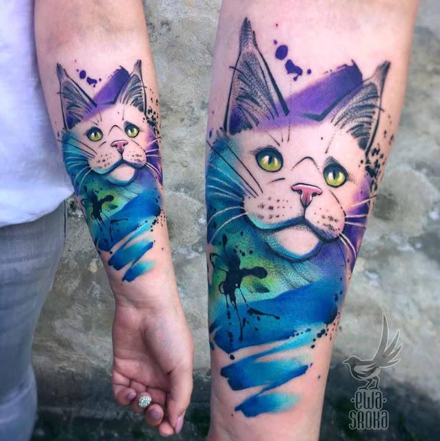 tatuagens femininas de gatos