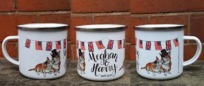 Bespoke Wedding Favour Enamel Mug by Alice Draws The Line