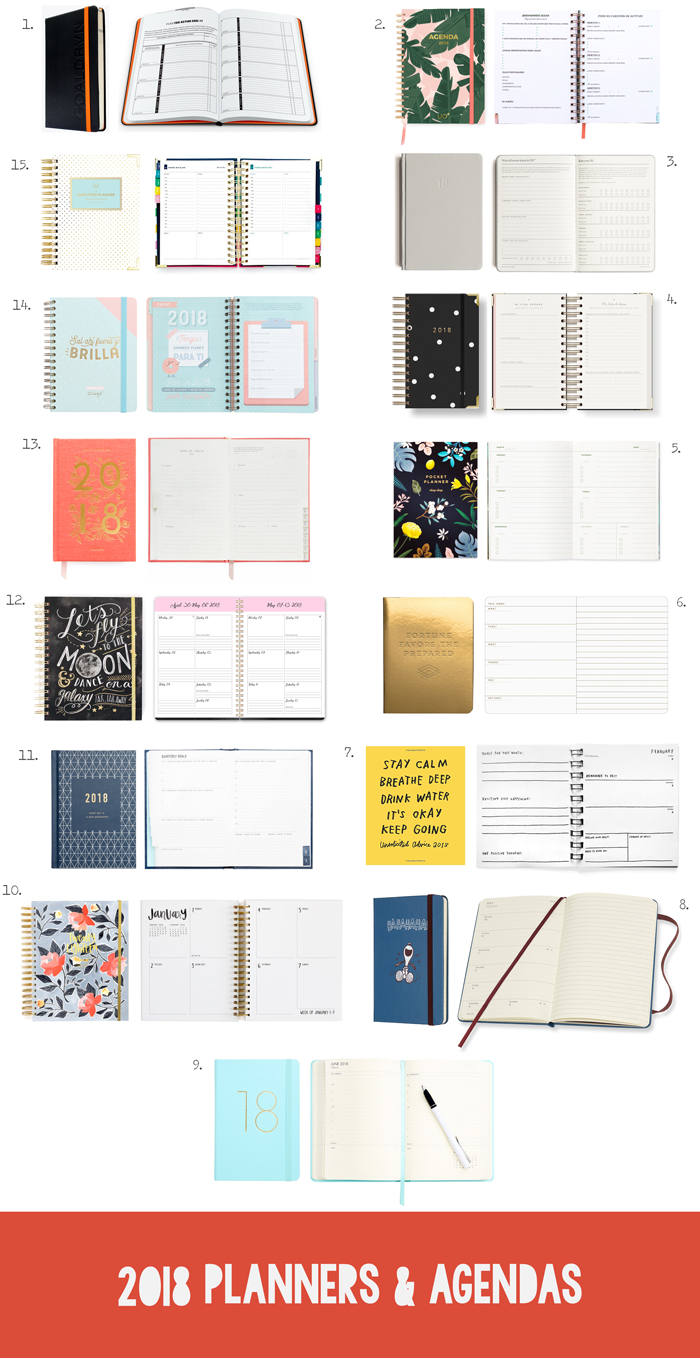 Agendas and planners shopping guide, stationery, journals, diaries, planificadores, metas, organizador, organizers