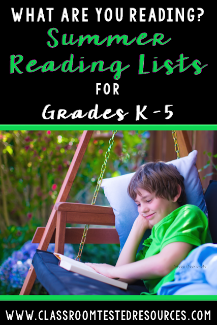 Looking for printable book lists for your students? This post shares ideas to help with Summer Slide and includes freebie book lists for all grades.