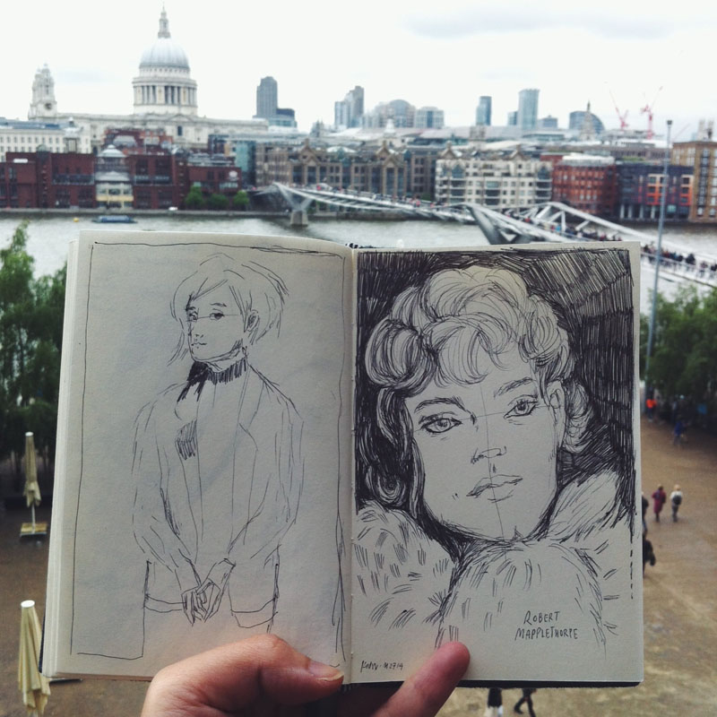 Kitty N. Wong / Robert Mapplethorpe sketchbook at Tate Modern