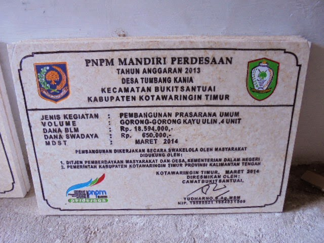 Contoh PTO PNPM Batu Prasasti  Peresmian