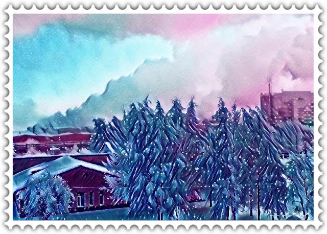 Зимняя сказка - вид из рабочего окна - Фото для вас бесплатно / Photo is free for you, p_i_r_a_n_y_a