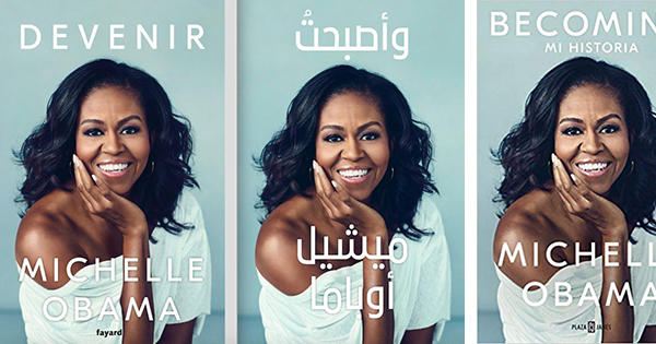 Becoming by Michelle Obama in different languages