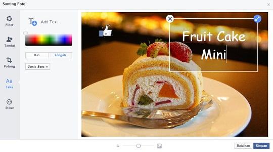 menambahkan tulisan di foto facebook