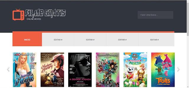Blogger Template Filme