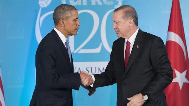 Obama muestra apoyo a Erdogan ante golpe militar en curso