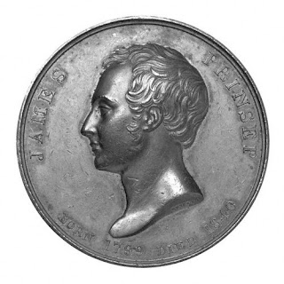 Photograph of the Prinsep coin, 1840