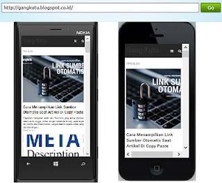 melihat versi mobile dari desktop