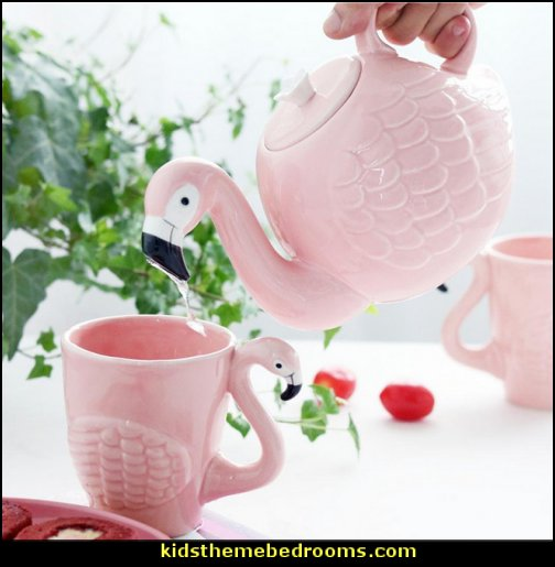 Flamingos Teapot - Flamingos mugs   decorative kitchen items - novelty mugs - unique kitchen gadgets - food pillows - kitchen wall decals - kitchen wall quotes - cool stuff to buy - kitchen cupboard contact paper -  kitchen storage ideas - cute kitchen utensils - fun cooking tools - dining decor -