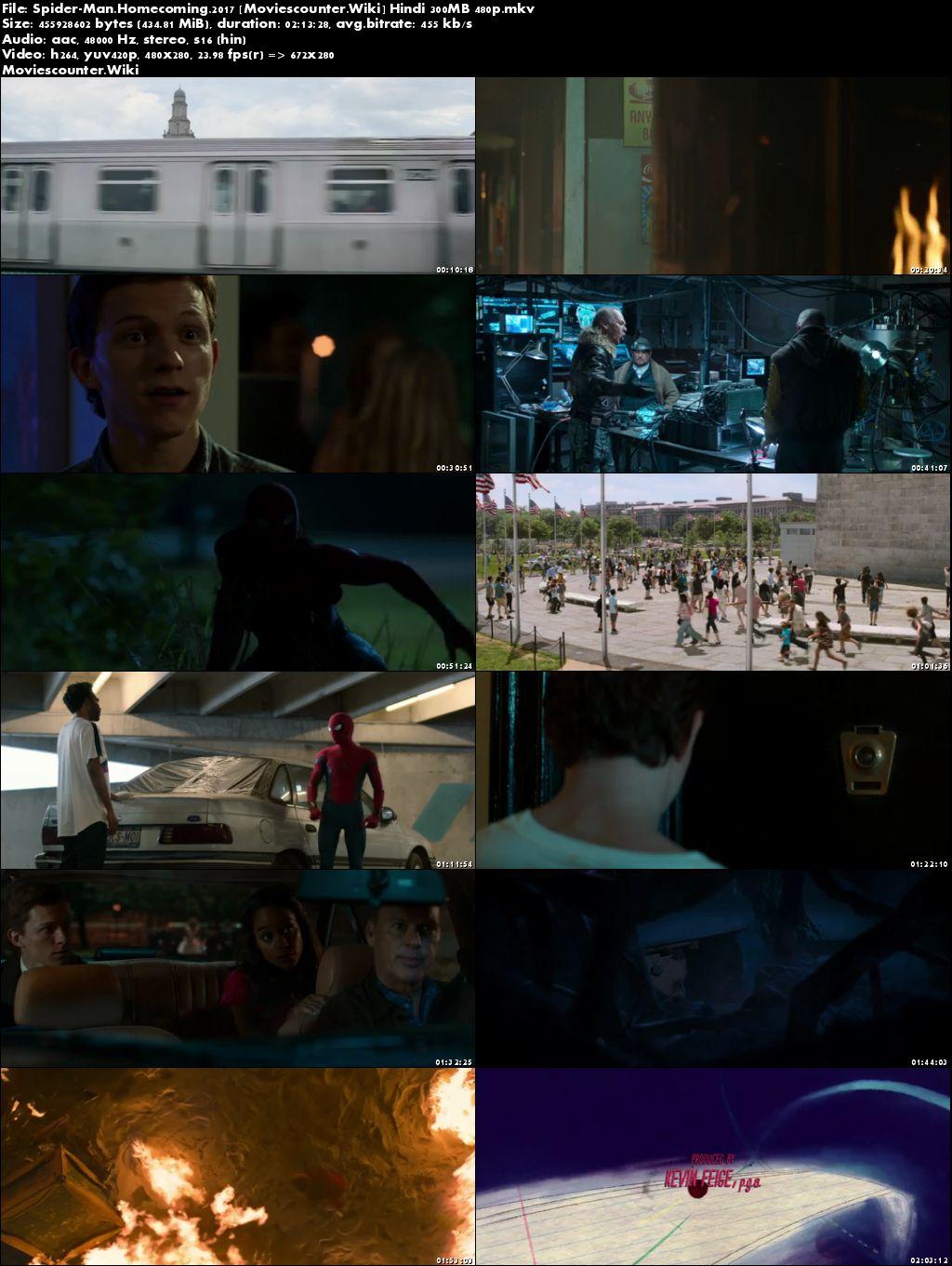 Screen Shots Spider-Man: Homecoming 2017 Dual Audio HD 300MB