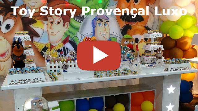 Vídeo decoração Toy Story provençal luxo