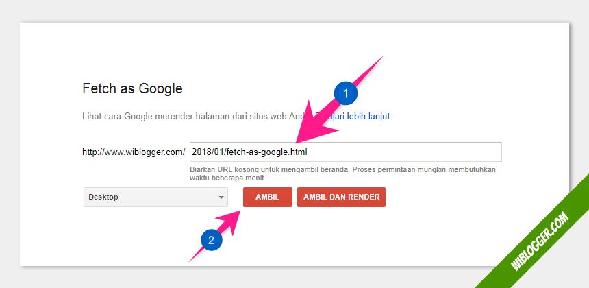 cara indeks postingan blog ke google