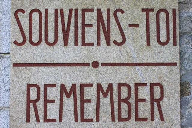 Plaque de recueillement Oradour