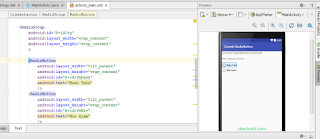 Preview RadioButton di Android Studio