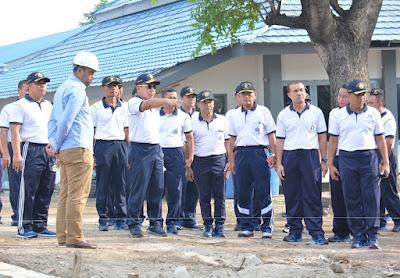 Pangarmabar Beri Arahan  Komandan Satuan di Kesatrian TNI AL Pondok Dayung