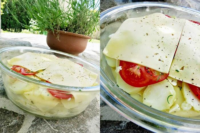 Kartoffelgratin als Grillbeilage