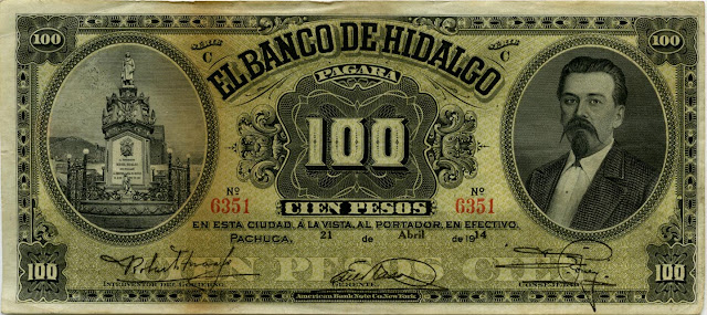 Mexican banknotes 100 peso bill cash currency money