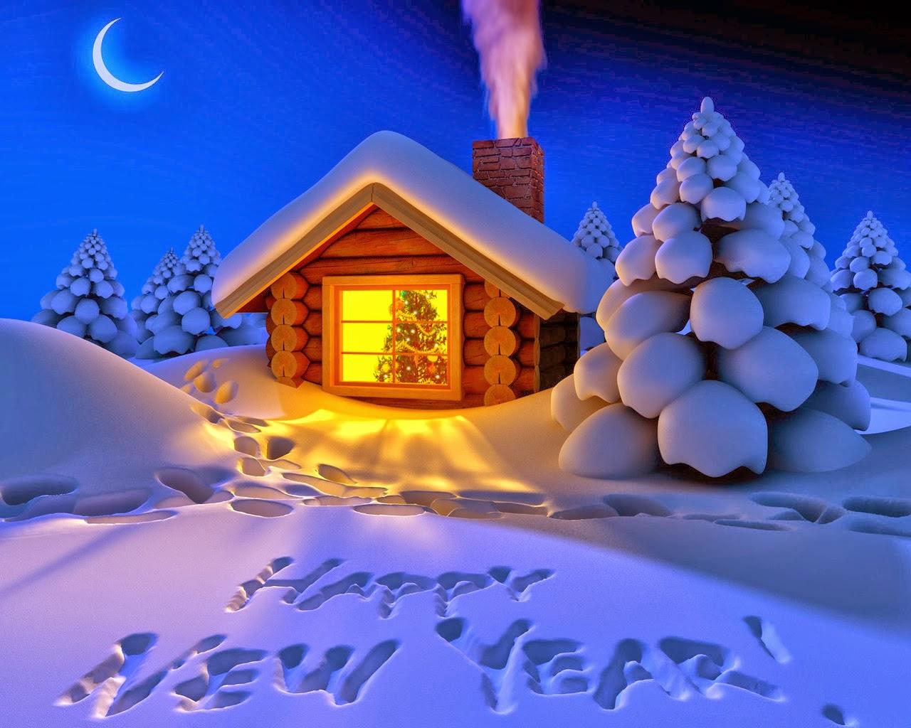 snow happy new year