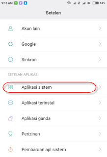 pengaturan sistem app xiaomi