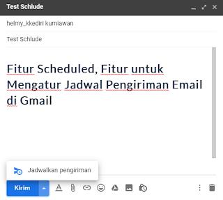 schedules send