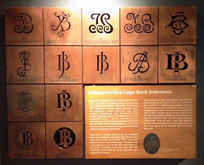 metamorfosa logo bi di museum bank indonesia