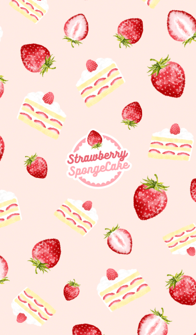 Theme of Strawberry Sponge Cake