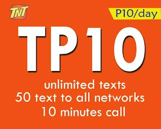 TNT TP10 – 10 Pesos Promo with Unlitext Plus Optional Unli Facebook