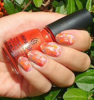 Orange with brush strokes