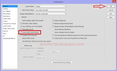 Mengaktifkan Fitur Zoom (IN/OUT) dengan Scroll Mouse di Photoshop
