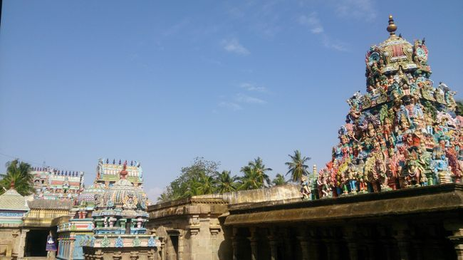 View Of Sri Vanchinathar Swamy Temple Towers (Gopurams)
