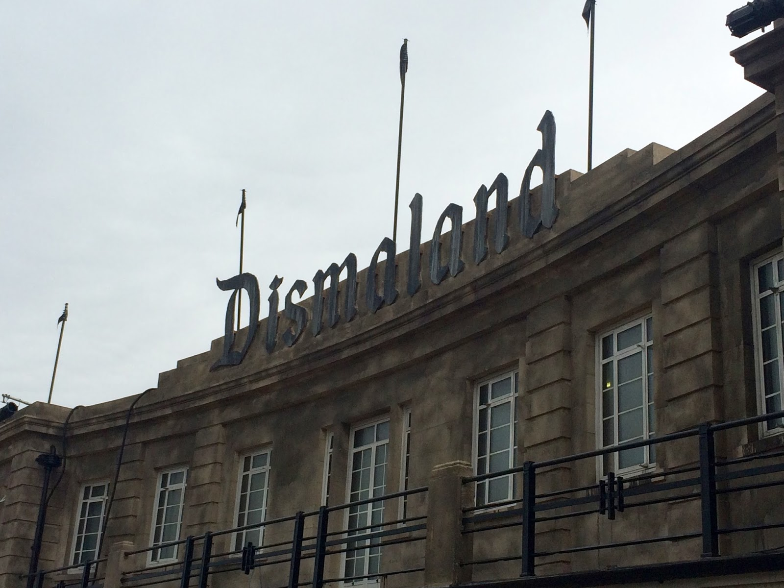 Dismaland entrance in Weston-Super-Mare Tropicana