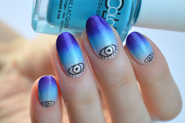 gradient nail art evil eye meebox lady gaga