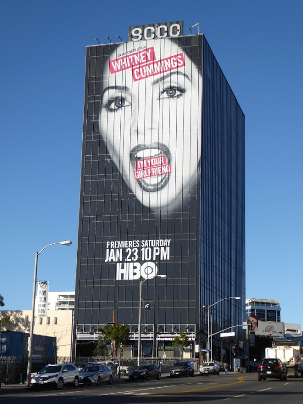Giant Whitney Cummings HBO comedy special billboard