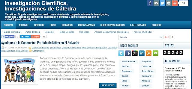 Blog de Investigación Científica y de Cátedra