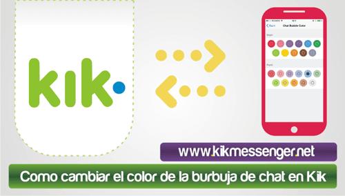 Como cambiar el color de la burbuja de chat en Kik