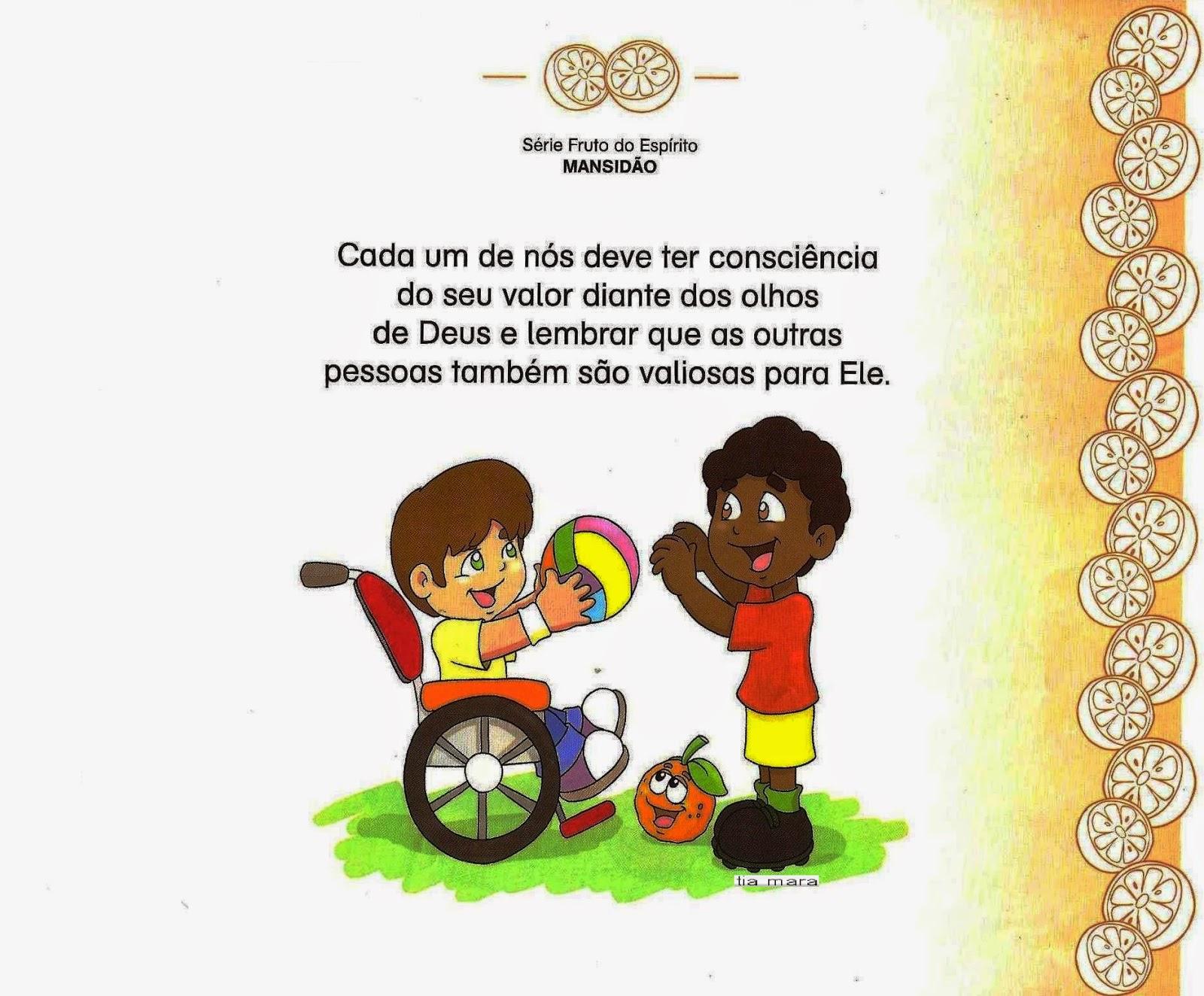 Excepcional Educando com a Tia Mara e Cia: O Fruto do Espírito - MANSIDÃO LA75