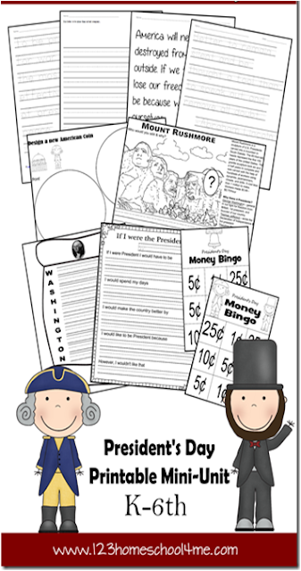 presidents day unit for kids