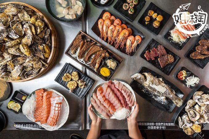 超狂厚切生魚片40片只要200元,更誇張是5元吃到東石鮮蚵,比扯鈴還扯的燒烤-高雄燒烤殿