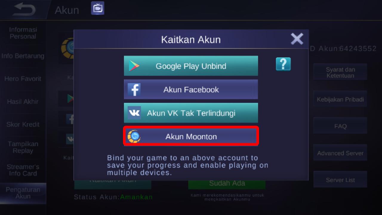 SHARE] Cara Daftar ID Akun Moonton Mobile Legends - Forum