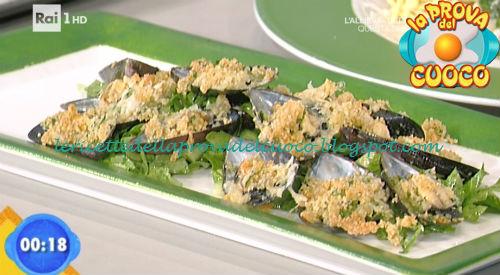 Cozze ripiene gratinate con insalata di rucola ricetta Bertol da Prova del Cuoco