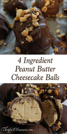 4 Ingredient Peanut Butter Cheesecake Balls