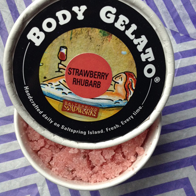 SaltSpring SoapWorks  Body Gelato Strawberry body scrub